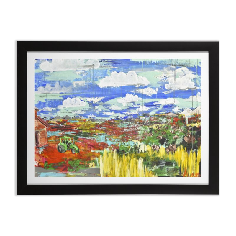 the tractor Home Framed Fine Art Print by stobo's Artist Shop