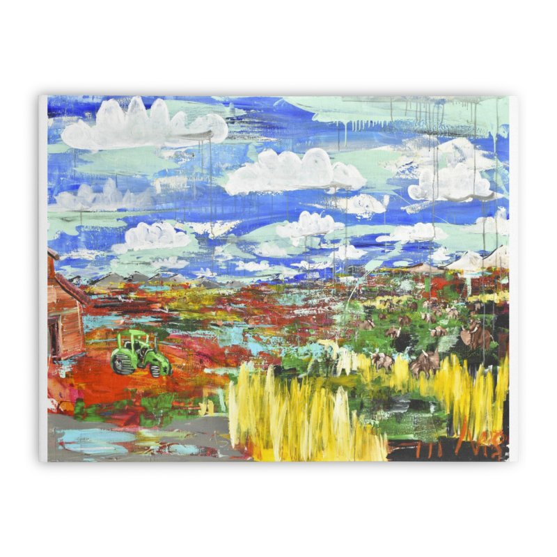 the tractor Home Stretched Canvas by stobo's Artist Shop