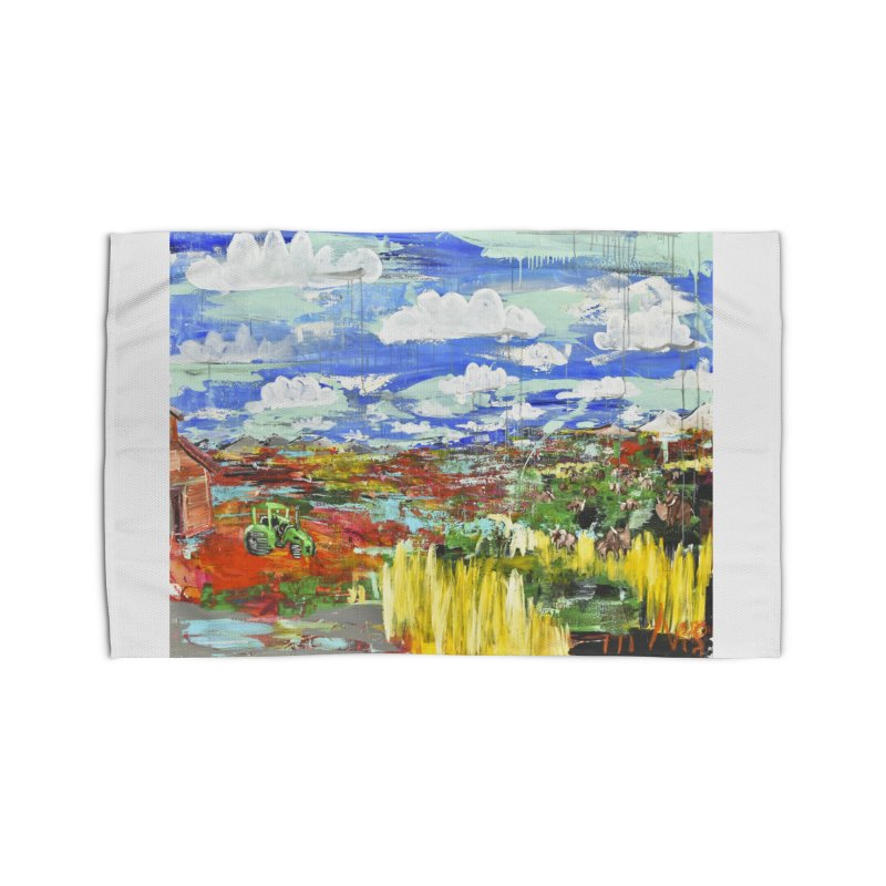 the tractor Home Rug by stobo's Artist Shop