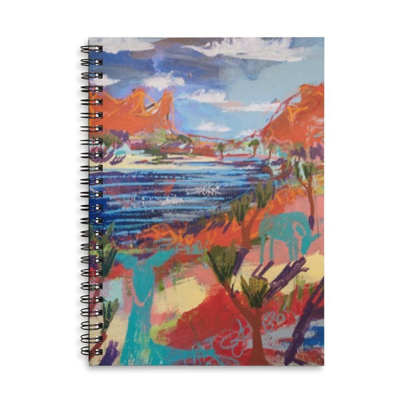 taking a dip and reading books Accessories Notebook by stobo's Artist Shop