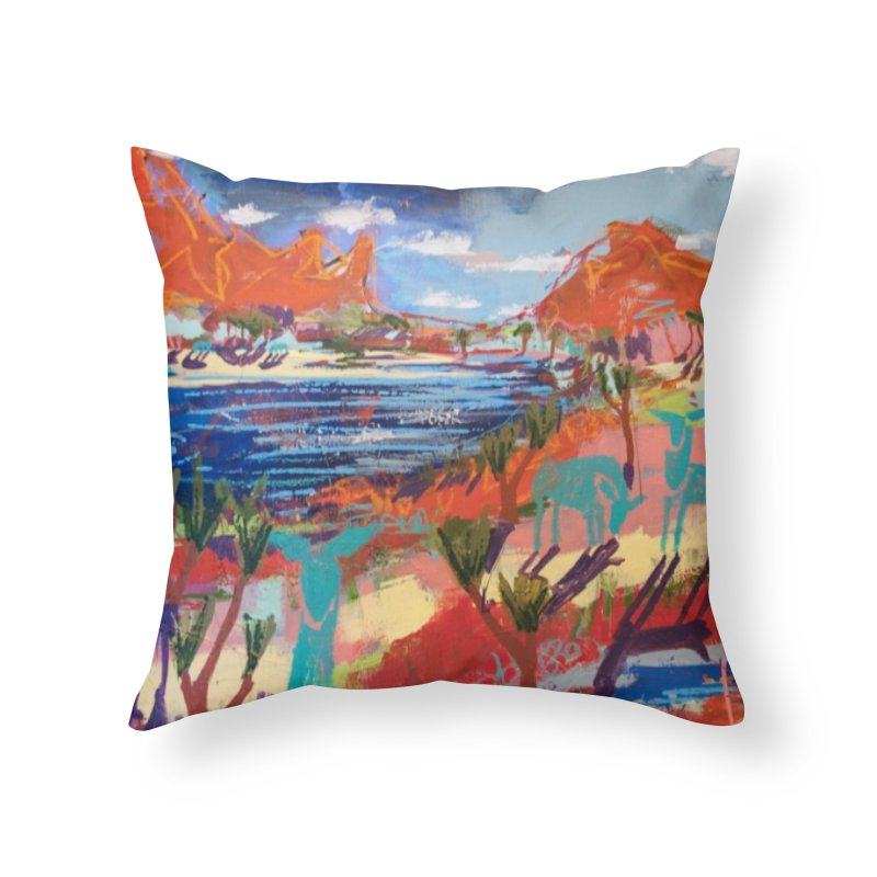 taking a dip and reading books Home Throw Pillow by stobo's Artist Shop