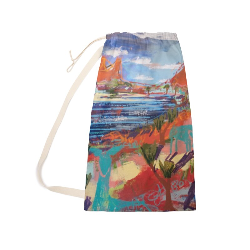 taking a dip and reading books Accessories Laundry Bag Bag by stobo's Artist Shop