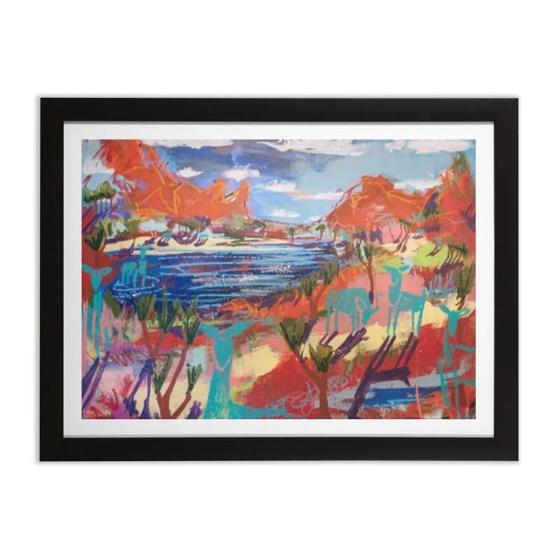 taking a dip and reading books Home Framed Fine Art Print by stobo's Artist Shop