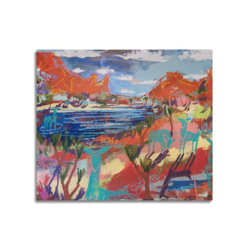 taking a dip and reading books Home Mounted Acrylic Print by stobo's Artist Shop