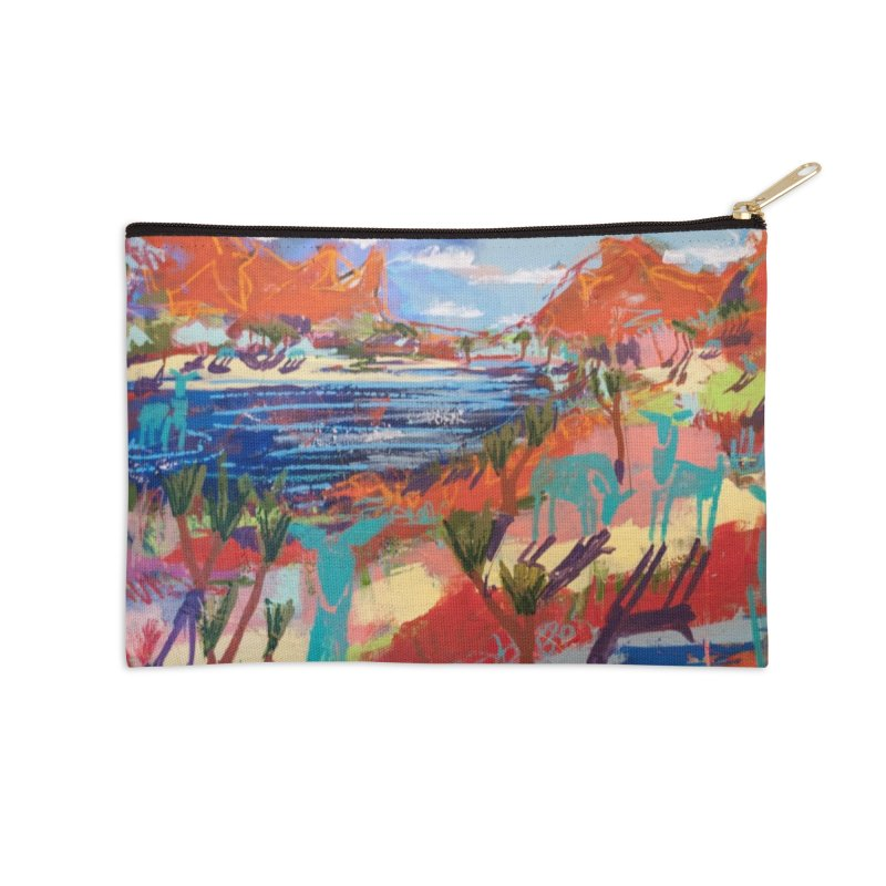 taking a dip and reading books Accessories Zip Pouch by stobo's Artist Shop