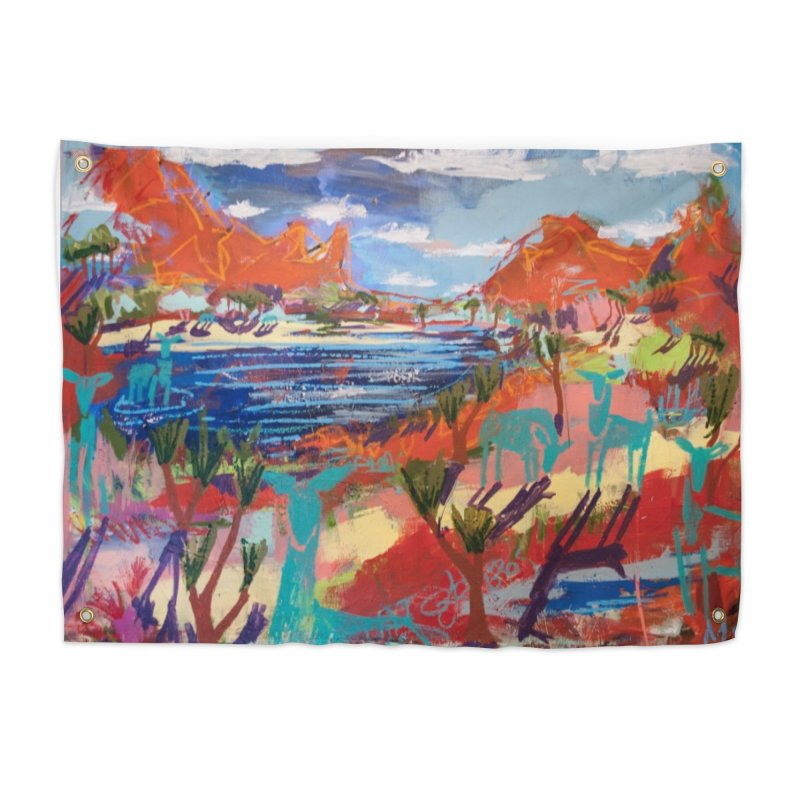 taking a dip and reading books Home Tapestry by stobo's Artist Shop