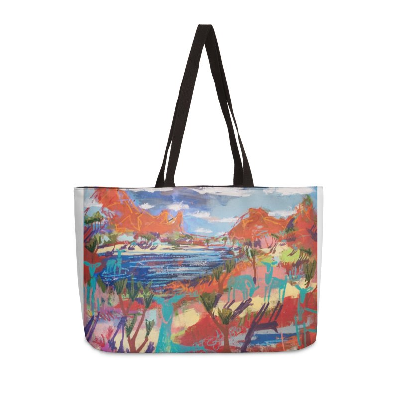 taking a dip and reading books Accessories Weekender Bag Bag by stobo's Artist Shop