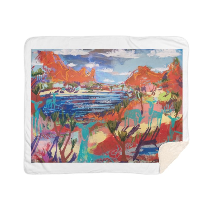 taking a dip and reading books Home Sherpa Blanket Blanket by stobo's Artist Shop