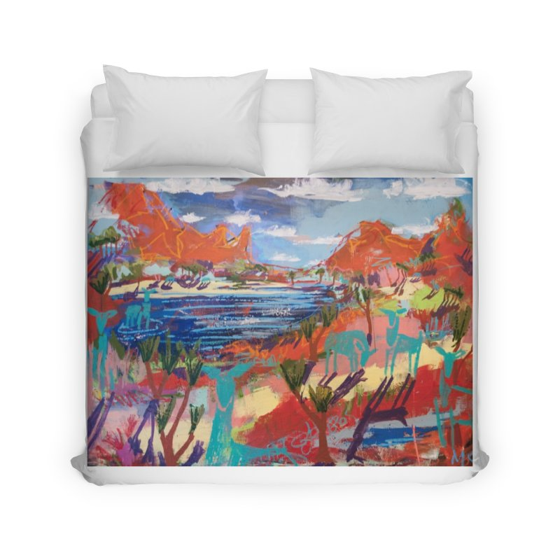 taking a dip and reading books Home Duvet by stobo's Artist Shop