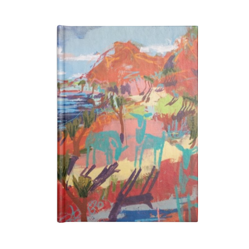taking a dip and reading books Accessories Blank Journal Notebook by stobo's Artist Shop