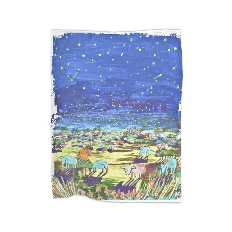 making wishes for you and me Home Fleece Blanket Blanket by stobo's Artist Shop