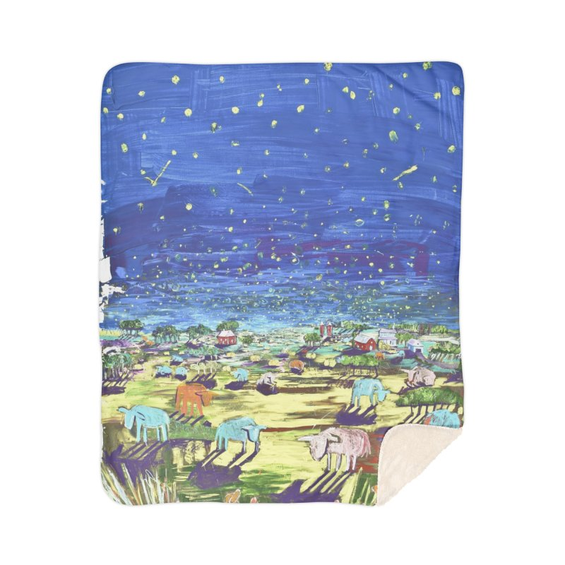 making wishes for you and me Home Sherpa Blanket Blanket by stobo's Artist Shop