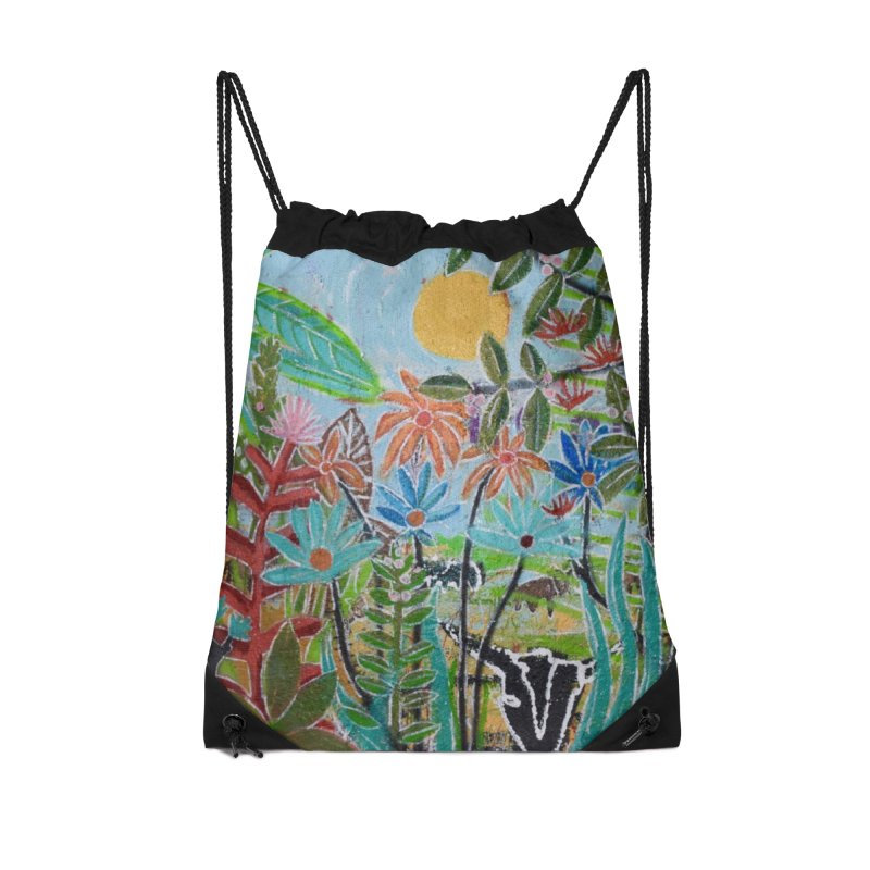 The jungle took me and taught me all the right things Accessories Drawstring Bag Bag by stobo's Artist Shop