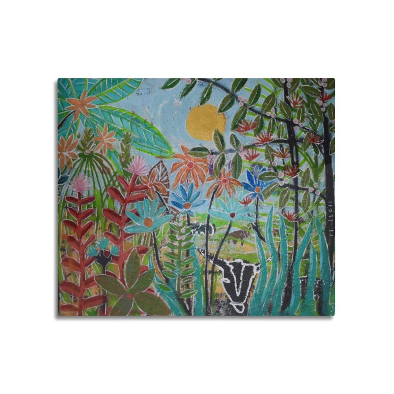 The jungle took me and taught me all the right things Home Mounted Aluminum Print by stobo's Artist Shop