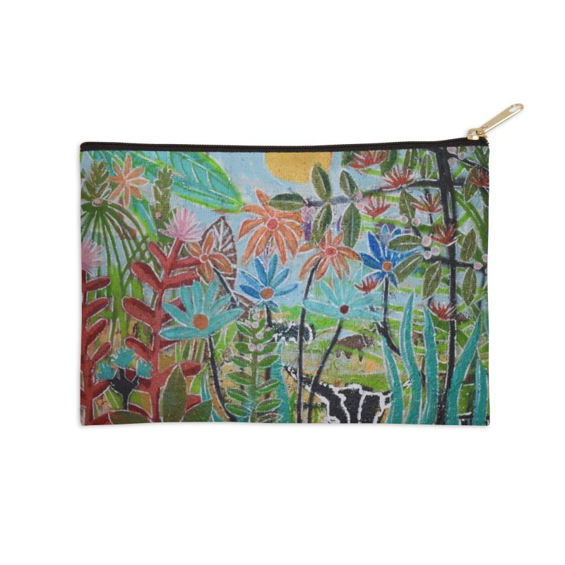 The jungle took me and taught me all the right things Accessories Zip Pouch by stobo's Artist Shop