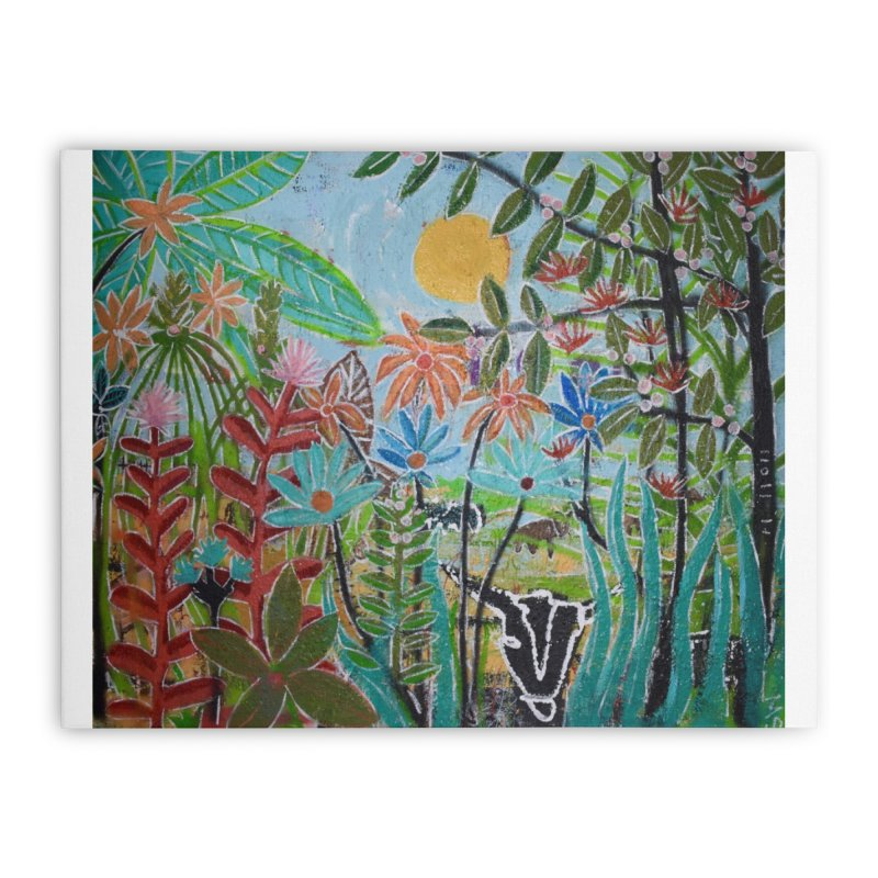 The jungle took me and taught me all the right things Home Stretched Canvas by stobo's Artist Shop