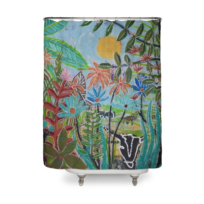 The jungle took me and taught me all the right things Home Shower Curtain by stobo's Artist Shop