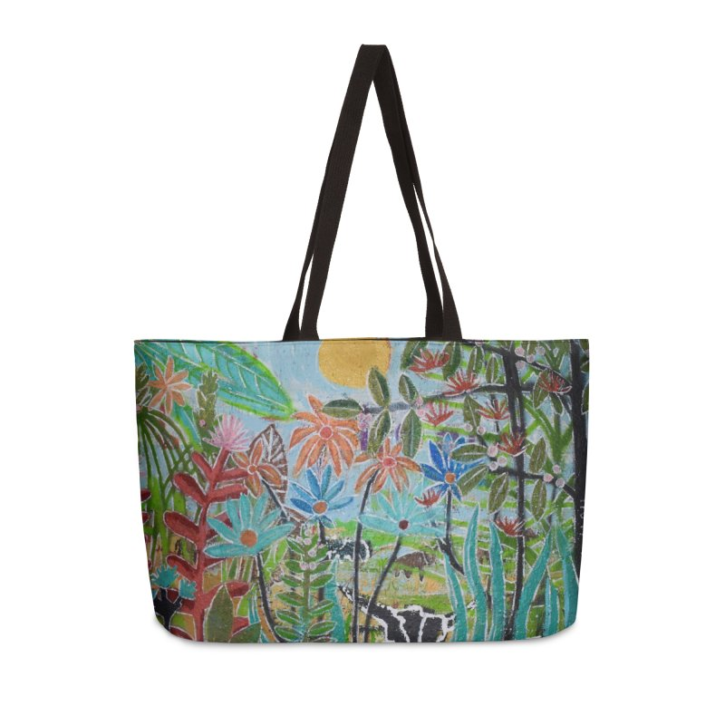 The jungle took me and taught me all the right things Accessories Weekender Bag Bag by stobo's Artist Shop