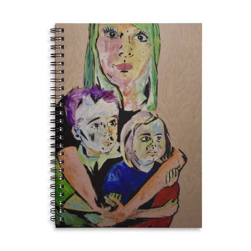 Momma rules all hearts. Accessories Lined Spiral Notebook by stobo's Artist Shop