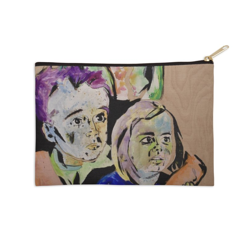 Momma rules all hearts. Accessories Zip Pouch by stobo's Artist Shop