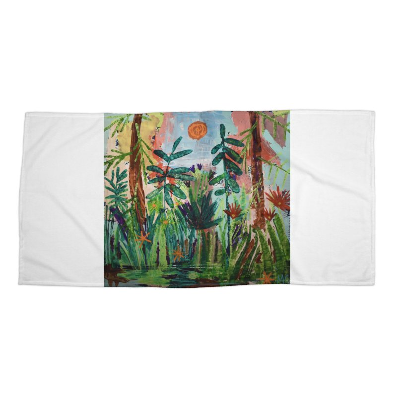 The bravest of hearts grew from here. Accessories Beach Towel by stobo's Artist Shop