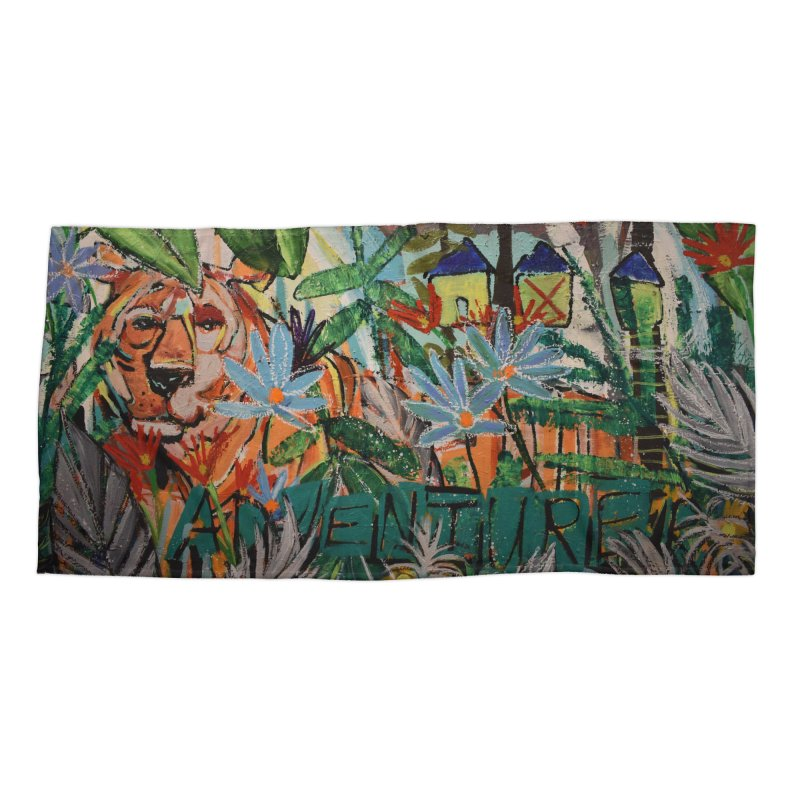 Adventure Tiger Accessories Beach Towel by stobo's Artist Shop