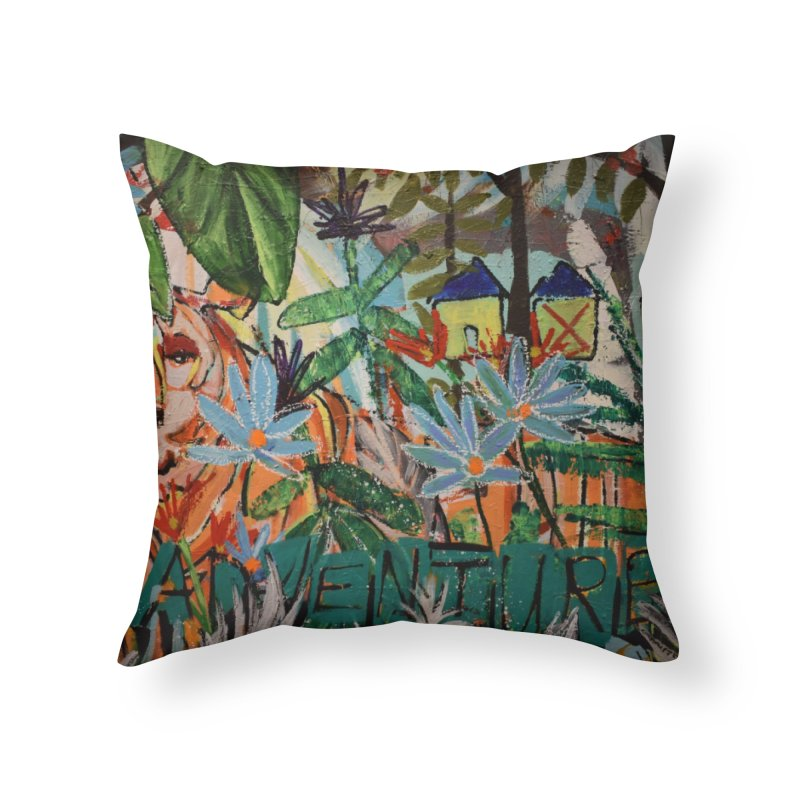 Adventure Tiger Home Throw Pillow by stobo's Artist Shop
