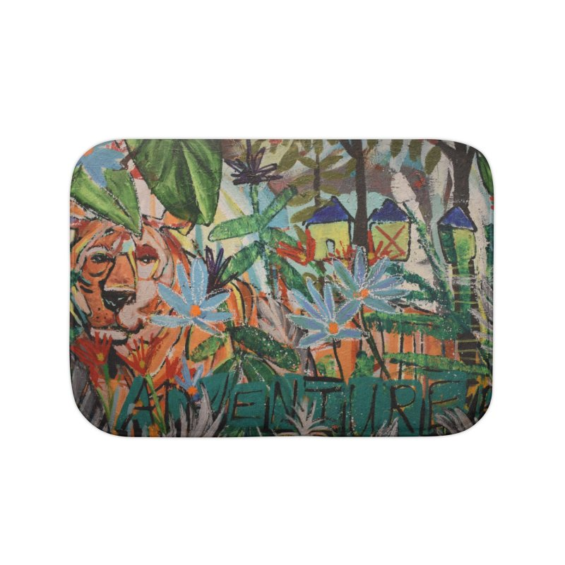 Adventure Tiger Home Bath Mat by stobo's Artist Shop