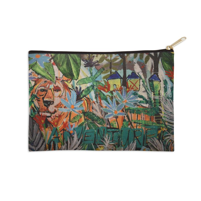 Adventure Tiger Accessories Zip Pouch by stobo's Artist Shop