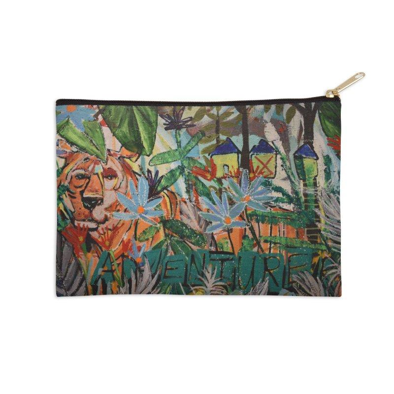 Adventure Tiger Accessories Zip Pouch by stobo's Artist Shop