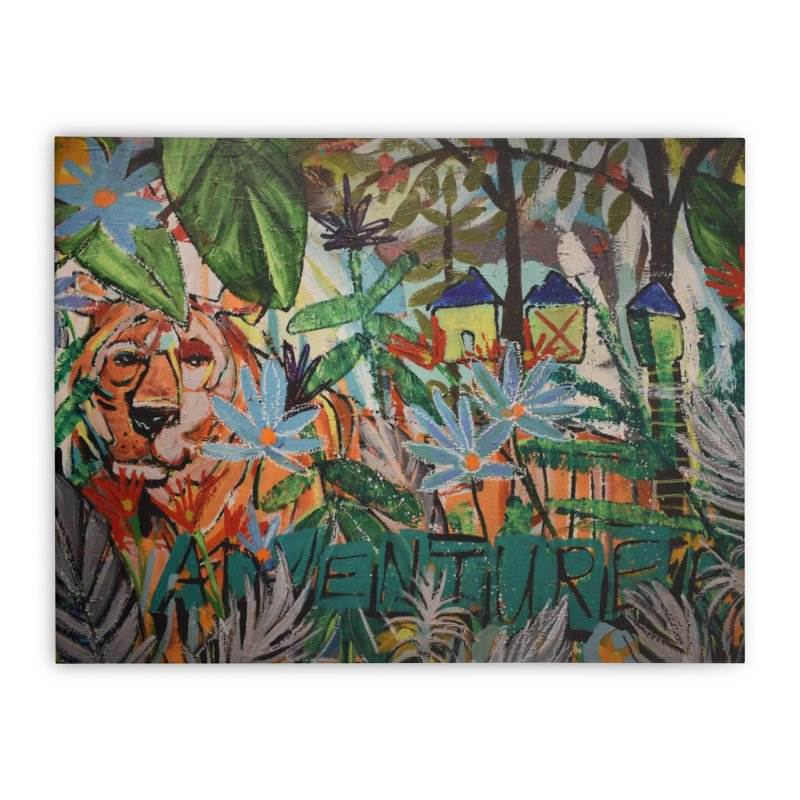 Adventure Tiger Home Stretched Canvas by stobo's Artist Shop