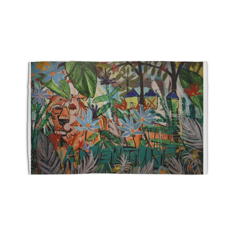 Adventure Tiger Home Rug by stobo's Artist Shop