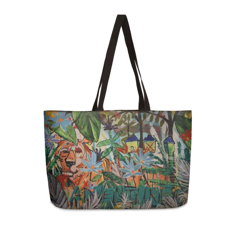 Adventure Tiger Accessories Weekender Bag Bag by stobo's Artist Shop