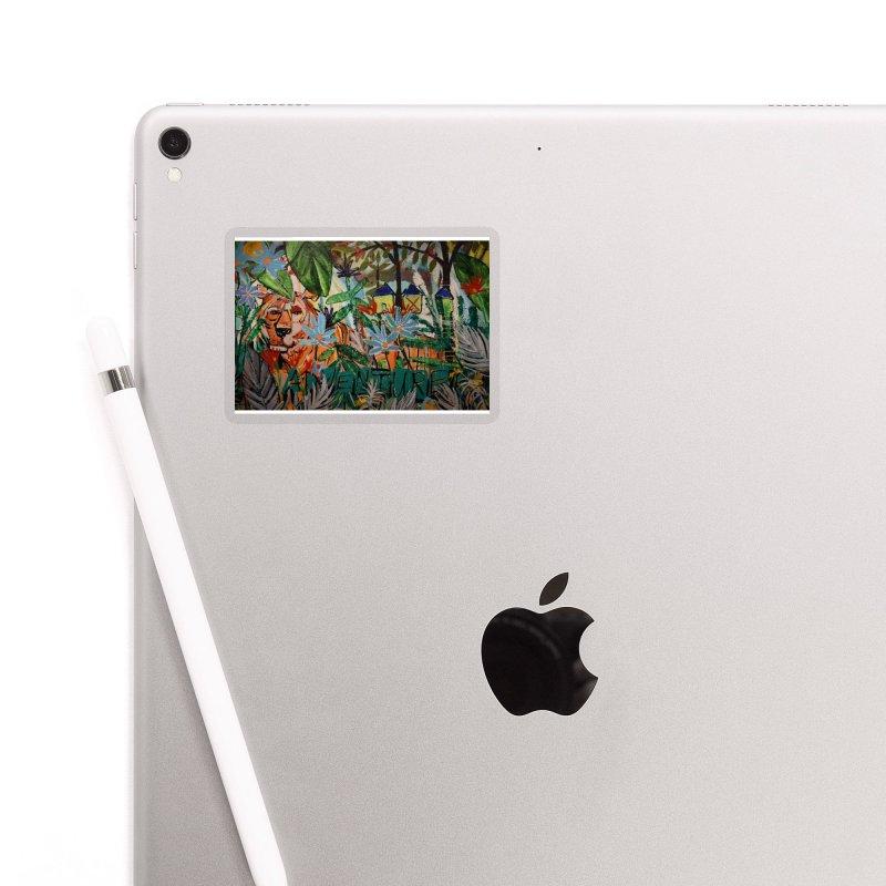 Adventure Tiger Accessories Sticker by stobo's Artist Shop