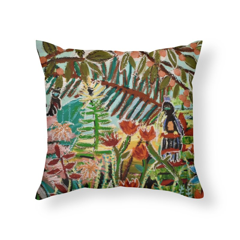 The weeds turned into flowers Home Throw Pillow by stobo's Artist Shop