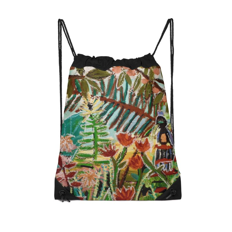 The weeds turned into flowers Accessories Drawstring Bag Bag by stobo's Artist Shop