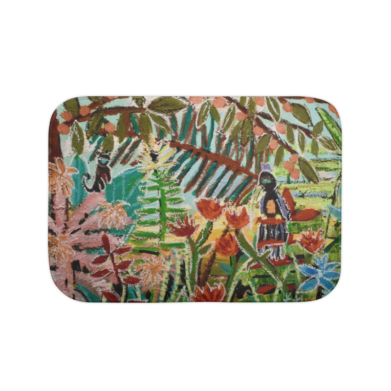 The weeds turned into flowers Home Bath Mat by stobo's Artist Shop