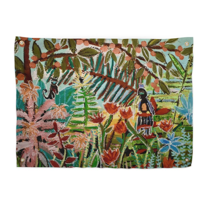 The weeds turned into flowers Home Tapestry by stobo's Artist Shop