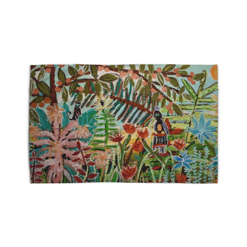 The weeds turned into flowers Home Rug by stobo's Artist Shop
