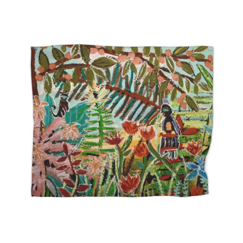 The weeds turned into flowers Home Fleece Blanket Blanket by stobo's Artist Shop