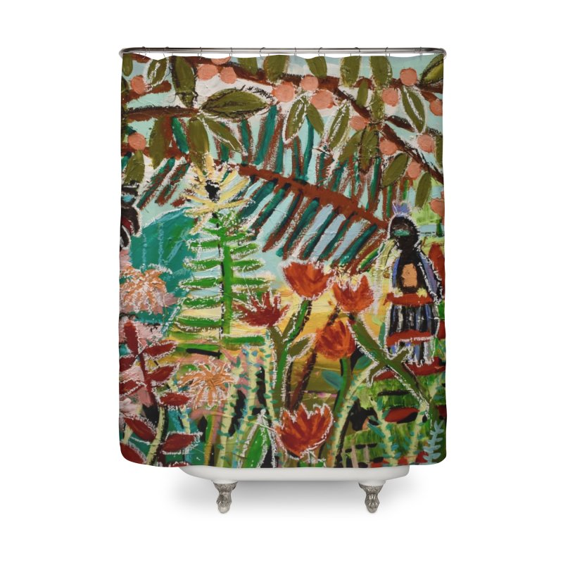 The weeds turned into flowers Home Shower Curtain by stobo's Artist Shop