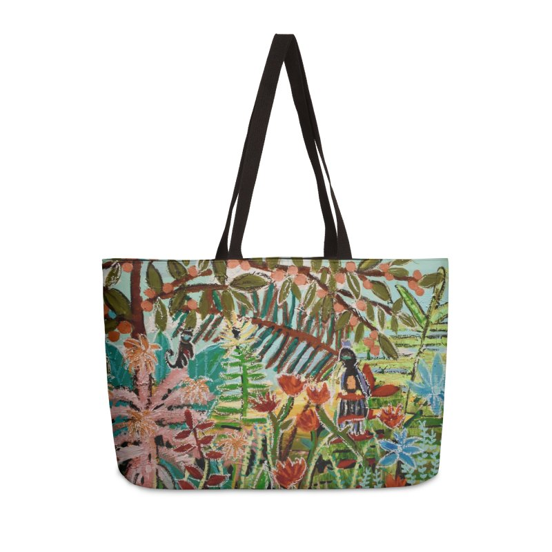 The weeds turned into flowers Accessories Weekender Bag Bag by stobo's Artist Shop