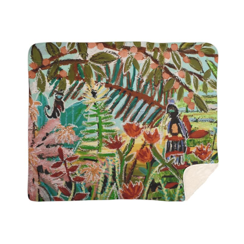 The weeds turned into flowers Home Sherpa Blanket Blanket by stobo's Artist Shop