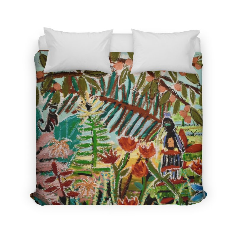 The weeds turned into flowers Home Duvet by stobo's Artist Shop