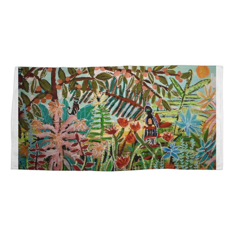 The weeds turned into flowers Accessories Beach Towel by stobo's Artist Shop