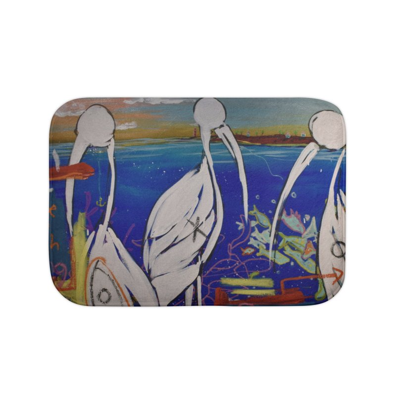 Edna, Mary and Grace. Home Bath Mat by stobo's Artist Shop