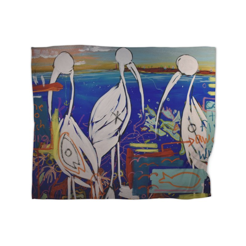 Edna, Mary and Grace. Home Fleece Blanket Blanket by stobo's Artist Shop
