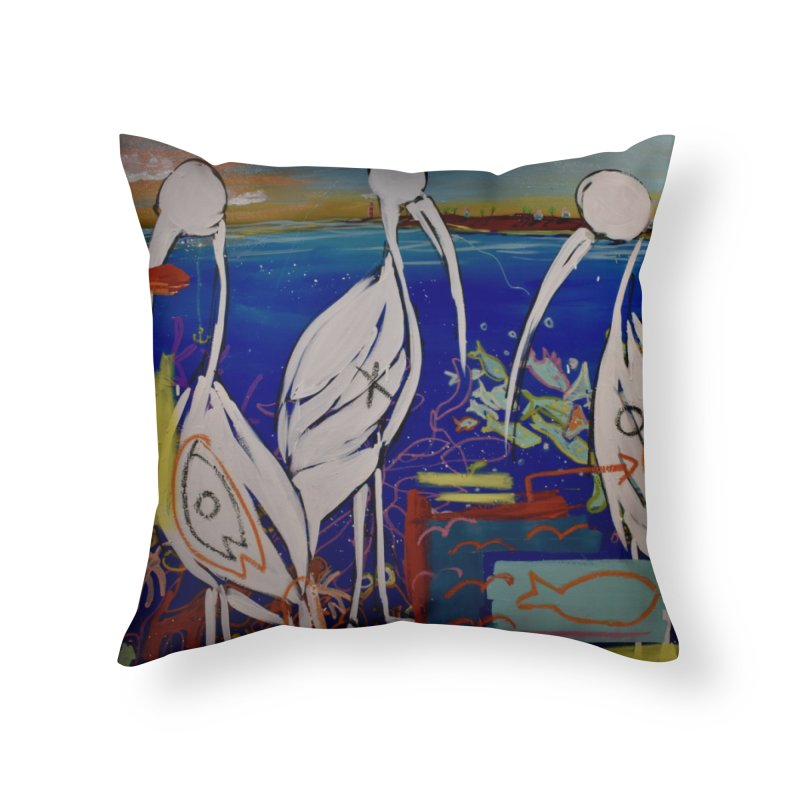 Edna, Mary and Grace. Home Throw Pillow by stobo's Artist Shop