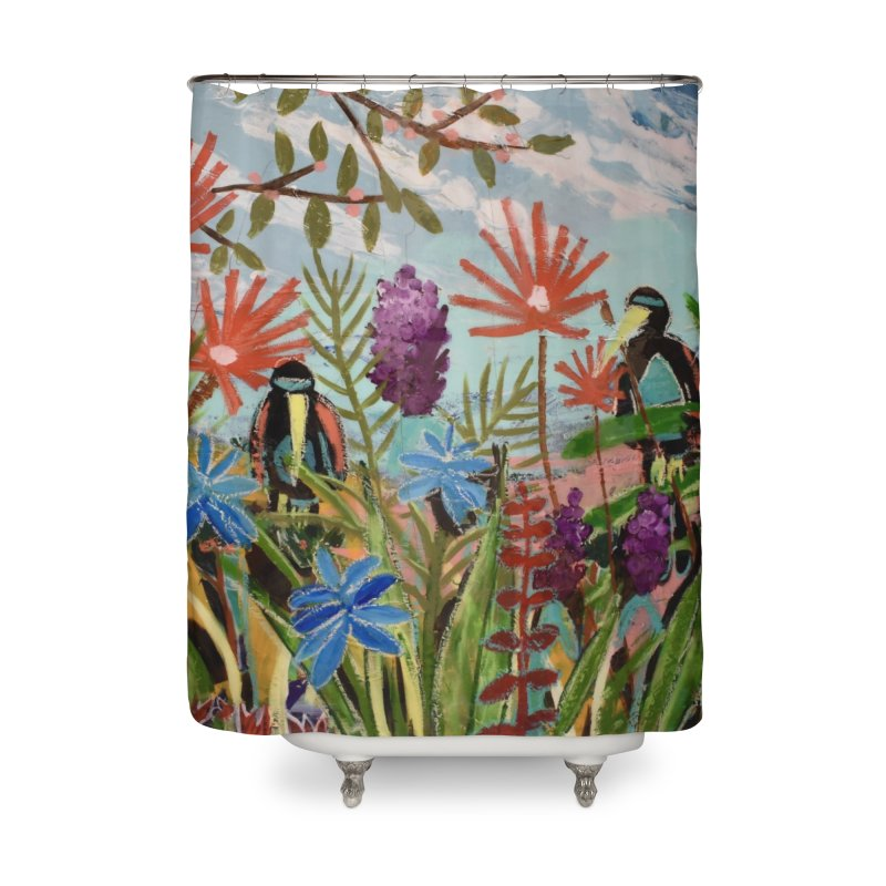 bff's forever Home Shower Curtain by stobo's Artist Shop
