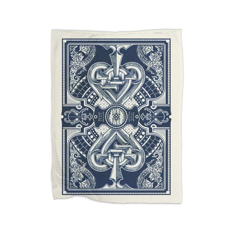 PARLOUR back design Navy Blue Home Blanket by stockholm17's Artist Shop
